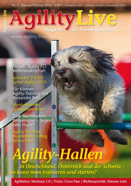 AgilityLive Ausgabe 01/2016 Magazin für Hundesportfans