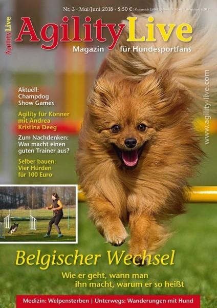 AgilityLive Hundesportzeitschrift Ausgabe 03/2018