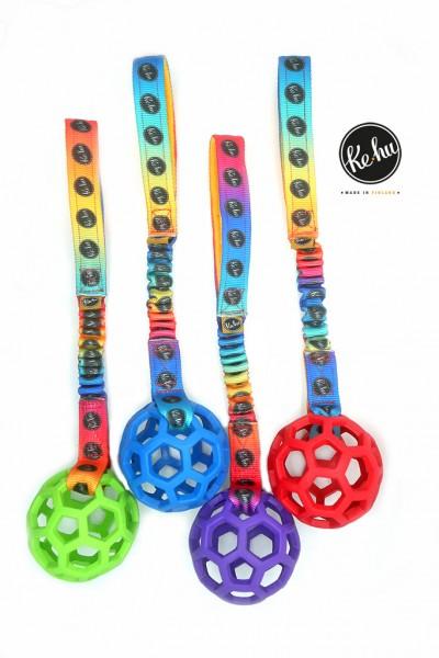 Ke-hu Atom M Hundespielzeug mit Bungeegriff