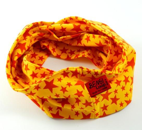Bengi Loop Gelb mit Sternen rund Hundeschal
