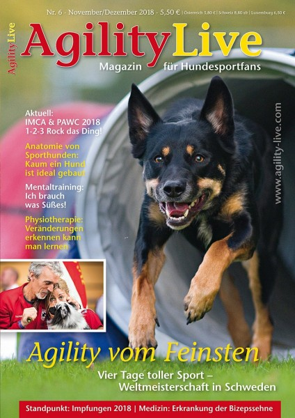 AgilityLive Ausgabe 06/2018 Magazin für Hundesportfans