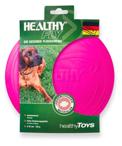Healty Fly Hunde Frisbee 22cm pink
