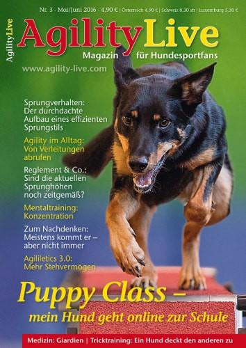 AgilityLive Hundesportmagazin Ausgabe 03/2016