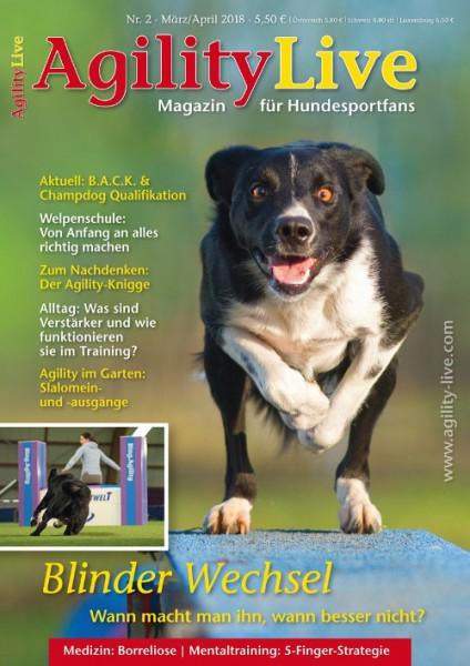 AgilityLive Ausgabe 02/2018 Magazin für Hundesportfans