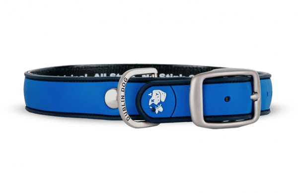 All Style No Stink Hundehalsband Blau Detail