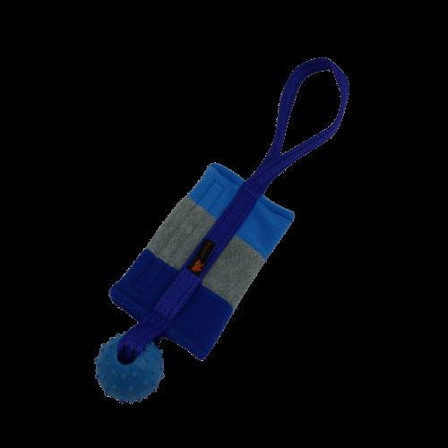 Fleece-Futterbeutel mit Ball blau